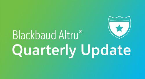2/26: Blackbaud Altru® Quarterly Update (Webinar)