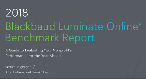 REPORT: Luminate Online Benchmark Report: Arts & Cultural Online Fundraising Trends