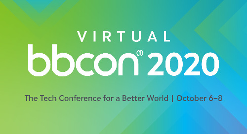 The tech conference for a better world is going virtual and global. Register now for free!