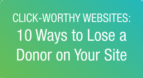 WEBINAR: 10 Ways to Lose a Donor on Your Website