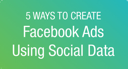ON DEMAND WEBINAR: 5 Ways to Create Facebook Ads Using Social Data