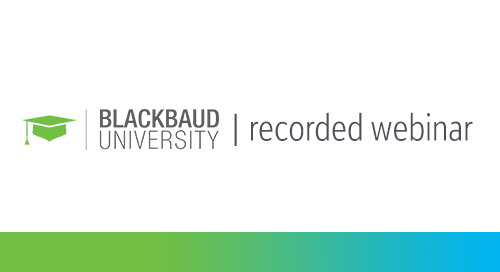 RECORDED WEBINAR: Choosing Blackbaud University as Your Professional Development Partner