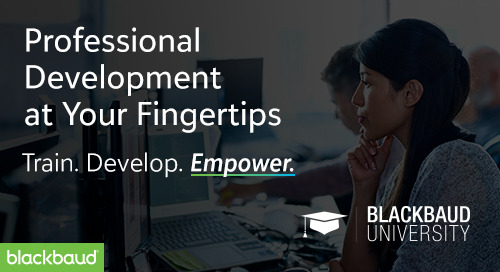 NEW Professional Development Resources from Blackbaud University