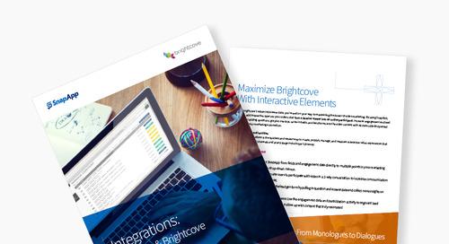 Integrations: SnapApp & Brightcove