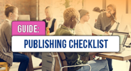 Checklist for Publishing