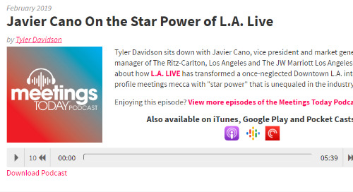 Javier Cano On the Star Power of L.A. Live
