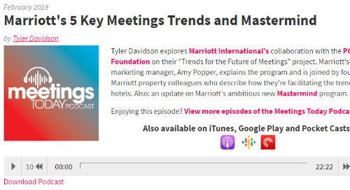Marriott's 5 Key Meetings Trends and Mastermind