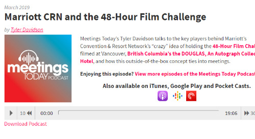 Marriott's CRN and the 48-Hour Film Challenge