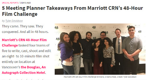 5 Meeting Planner Takeaways from Marriott CRN's 48-Hour Film Challenge