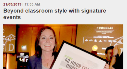 Beyond classroom style with signature events