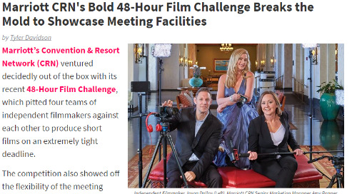 Marriott CRN's Bold 48-Hour Film Challenge Breaks the Mold to Showcase Meeting Facilities