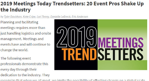 2019 Meetings Today Trendsetters: 20 Event Pros Shake Up the Industry
