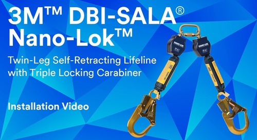 Twin-Leg Self-Retracting Lifeline with Triple Locking Carabiner Installation Video