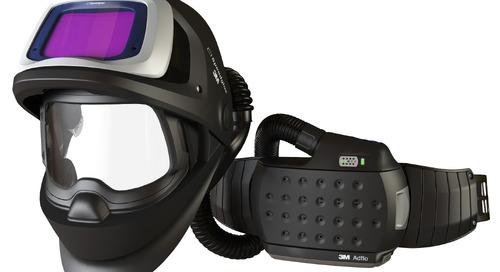 9100 FX Air #Speedglas: pour une protection respiratoire constante et une excellente vision dans un modèle relevable. #MPI #BreatheEasy