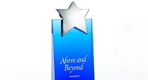 Trophy - Blue Crystalline Tower - Star