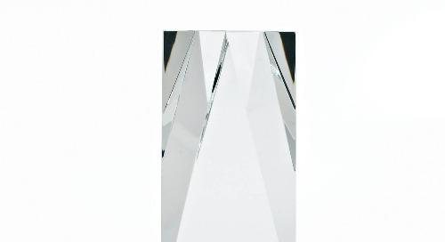 Iconic Crystal Award - Brilliantly Cut Marquise
