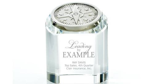 Crystal Rondure Award - Compass