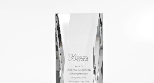 Iconic Crystal Award - Brilliantly Cut Tower