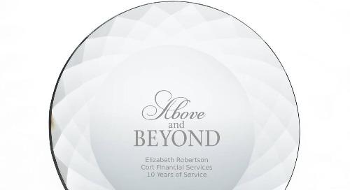 Beveled Crystal Plate