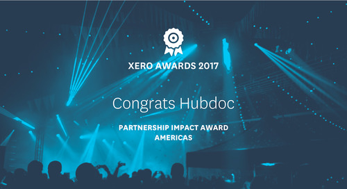 [PRESS RELEASE] Hubdoc Wins Partnership Impact Award in the Annual Xero Awards Americas