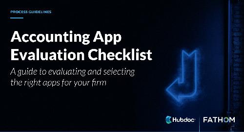 Accounting App Evaluation Checklist