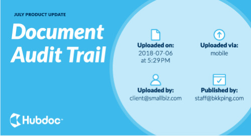 July Product Update: Document Audit Trail