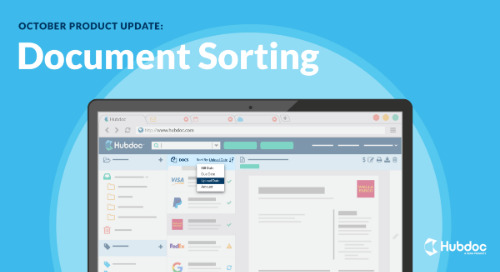 October Product Update: Document Sorting