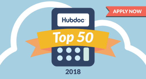 Apply to Be a Hubdoc Top 50 Cloud Accountant of 2018