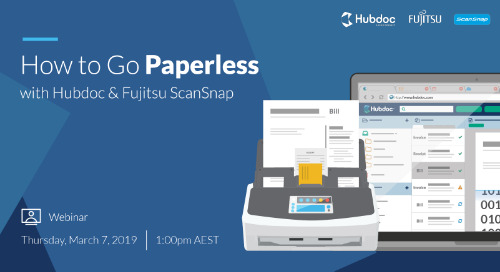 How to Go Paperless with Hubdoc & Fujitsu ScanSnap