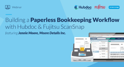 Building a Paperless Bookkeeping Workflow with Hubdoc & Fujitsu ScanSnap