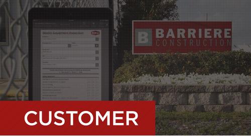 Barriere Construction - Paperless Equipment Inspections