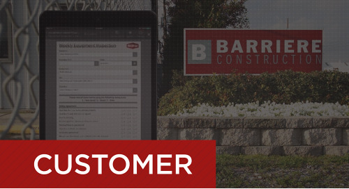 Barriere Construction Goes Paperless for Equipment Inspections