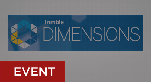 Trimble Dimensions User Conference November 5-7, 2018