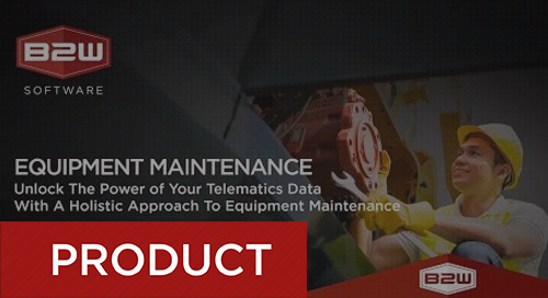 Unlock the Power of Your Telematics Data for Equipment Maintenance