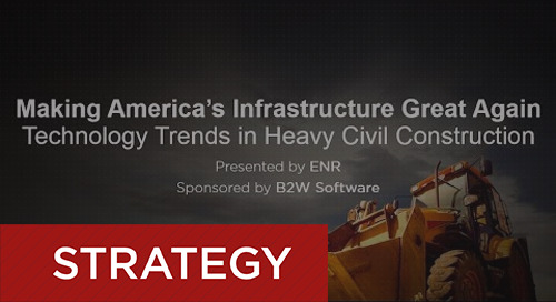 B2W & ENR - The State of America's Infrastructure