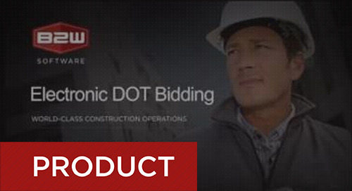 Electronic DOT Bidding Advantages with B2W Estimate