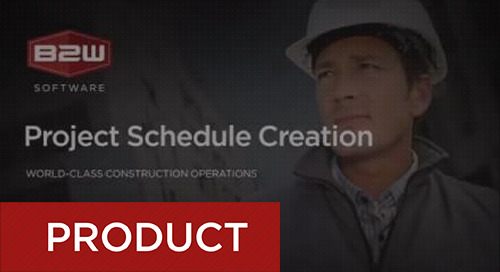 Creating Project Schedules in B2W Estimate