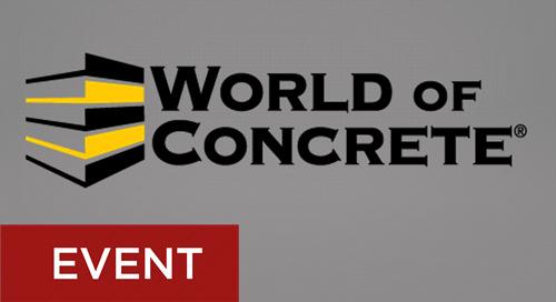 World of Concrete January 22-25, 2019