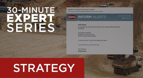 Recorded Webcast - Alerts and Notifications with B2W Inform
