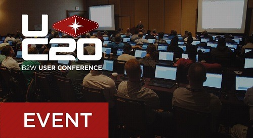 B2W User Conference 2020 - Session Guide