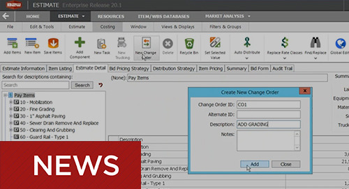 B2W Enhances Change Order Capabilities within Estimating Software