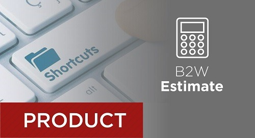 B2W Estimate – Adding One-off Tasks to a Pay Item