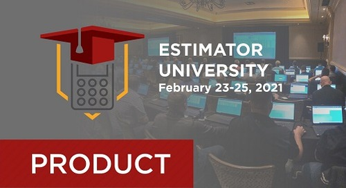 2021 User Conference Track for B2W Estimate Beginners and Intermediates