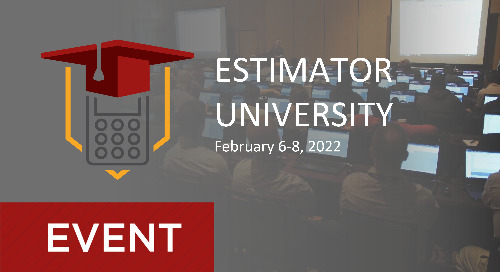 2022 User Conference Track for B2W Estimate Beginners and Intermediates