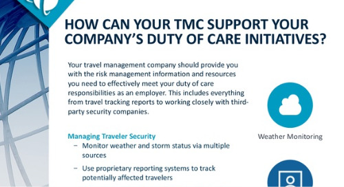 How can your TMC support your duty of care initiatives?