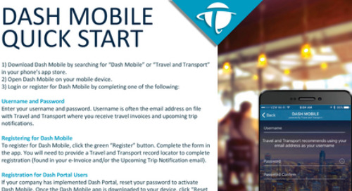 Dash Mobile - Quick Start