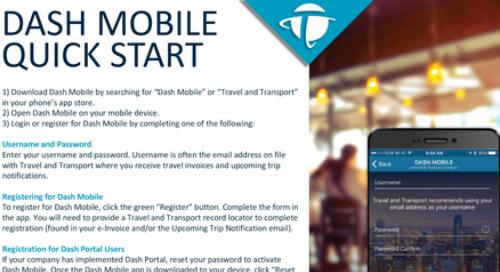 Dash Mobile - Quick Start