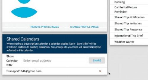 Dash Portal: Calendar Subscriptions