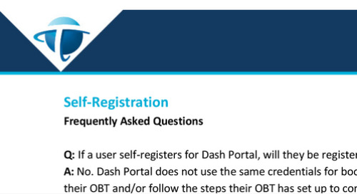 FAQs - Dash Portal Self Registration