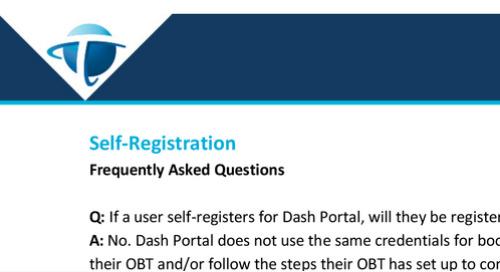 FAQs - Dash Portal Self Registration
